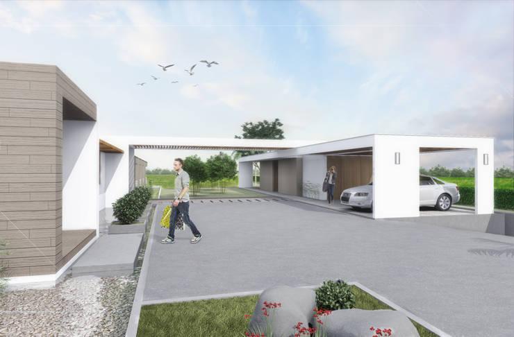 Acceso: Casas de estilo  por Ar4 Arquitectos, Minimalista