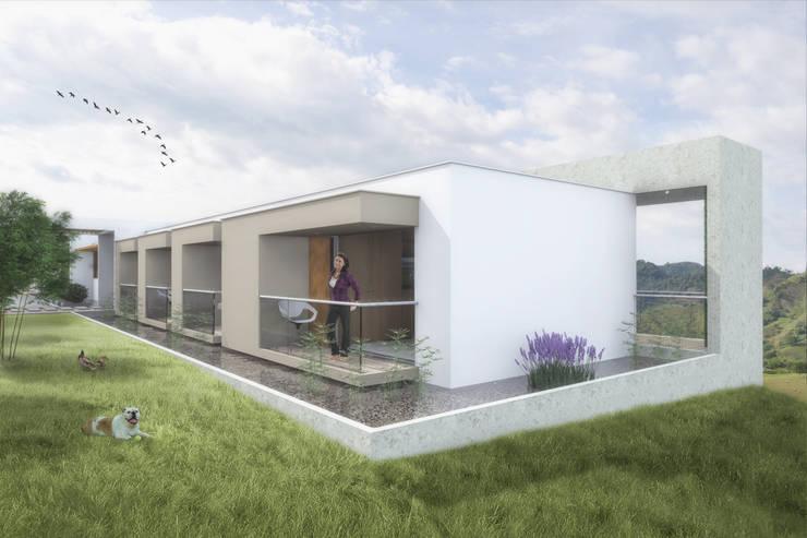 Habitaciones: Terrazas de estilo  por Ar4 Arquitectos, Minimalista