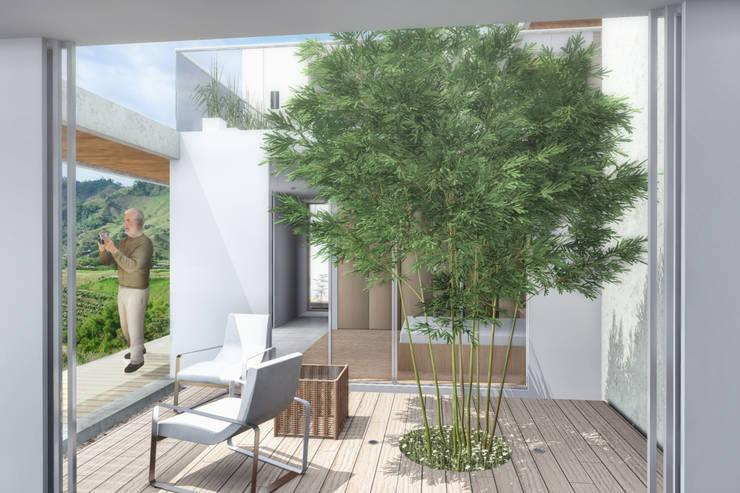 Jardín : Jardines de estilo  por Ar4 Arquitectos, Minimalista