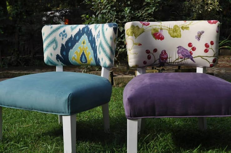 Retapizados y algunos muebles a pedido : Livings de estilo  por La ChaChaDeco