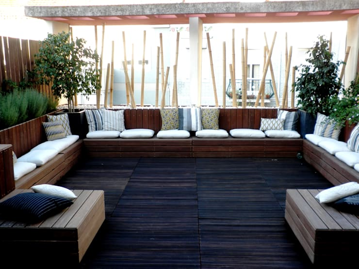 Chill Out Urbano: Terraços  por Calleres - Architecture & Interior Design