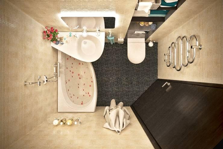 Элегантность эргономики Ванная комната в стиле модерн от Lotos Design Модерн Камень
