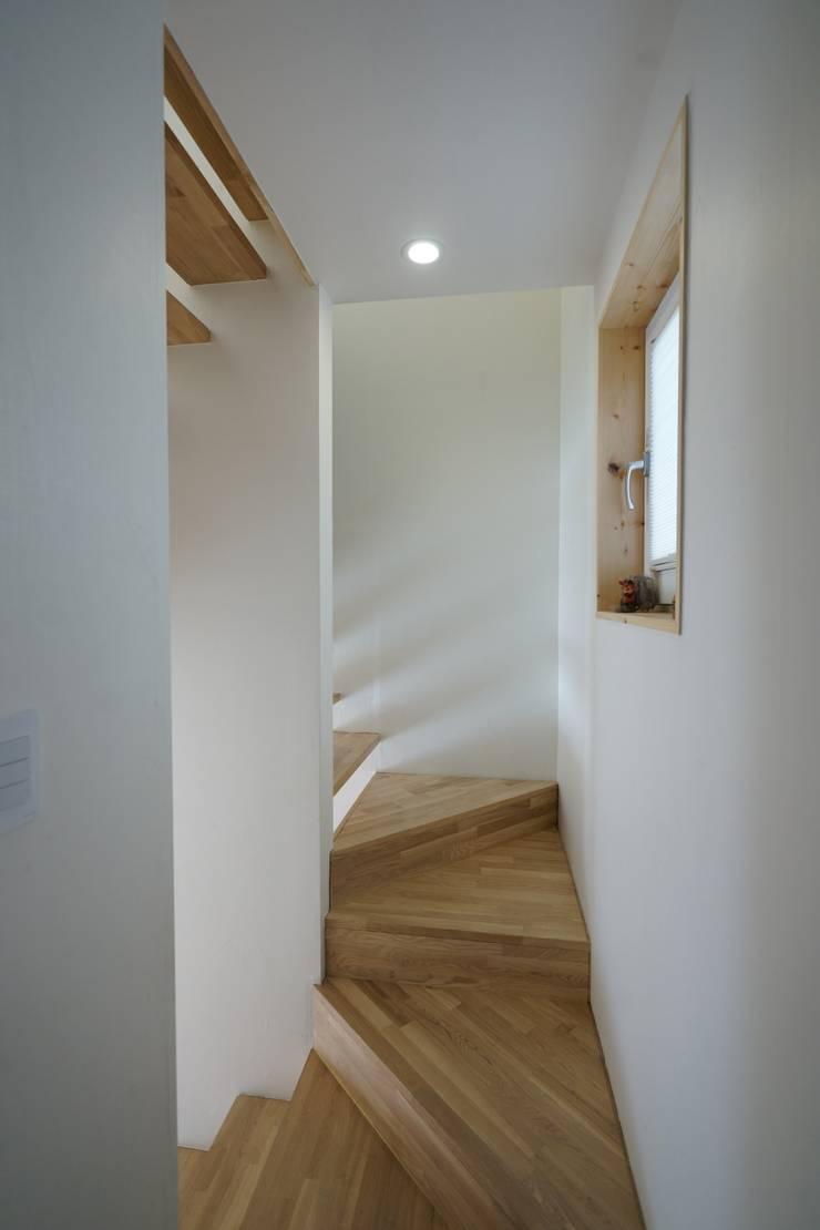 Sunlight House 빛이 쏟아지는 집: ADMOBE Architect의  복도 & 현관,