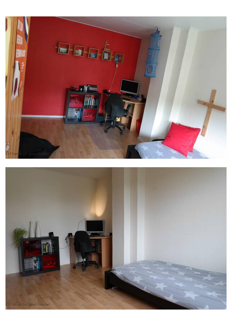 Slaapkamer voor en na verkoopstyling:   door HANDS ON YOUR HOUSE