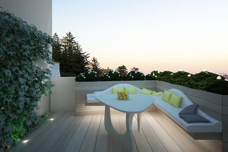 Terrazas de estilo  por Architetto Valentina Longo