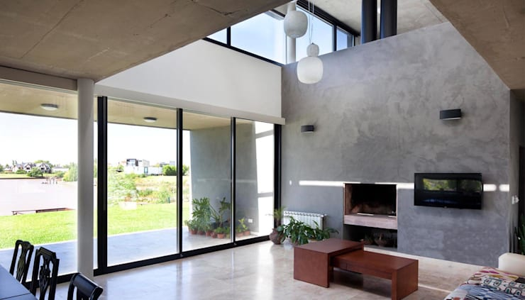 Casa JG: Livings de estilo  por Speziale Linares arquitectos