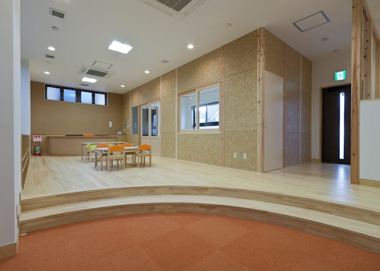 事業所内託児所: 宮田建築設計室が手掛けた医療機関です。,