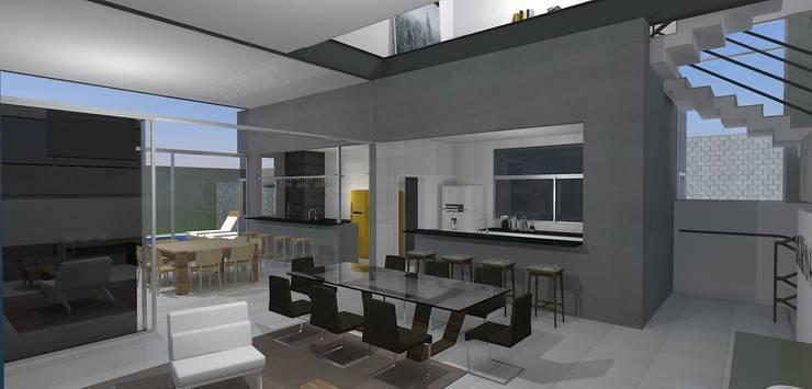 casa brj: Salas de jantar  por grupo pr | arquitetura e design,Moderno