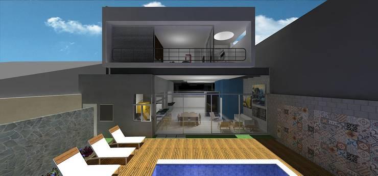 casa brj: Piscinas  por grupo pr | arquitetura e design,Moderno