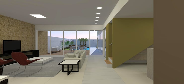 casa bs: Corredores e halls de entrada  por grupo pr | arquitetura e design