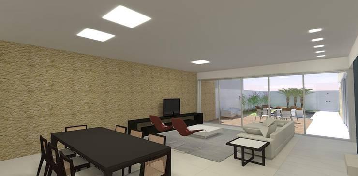 casa bs: Salas de estar  por grupo pr | arquitetura e design
