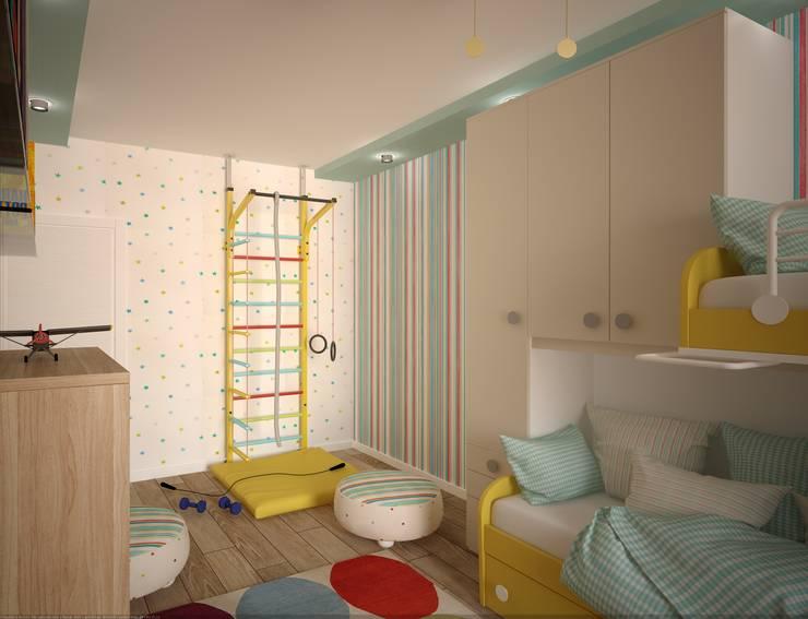 интерьер квартиры в ЖК Ньютон: Детские комнаты в . Автор – Студия дизайна интерьера Designer-PRO, Минимализм