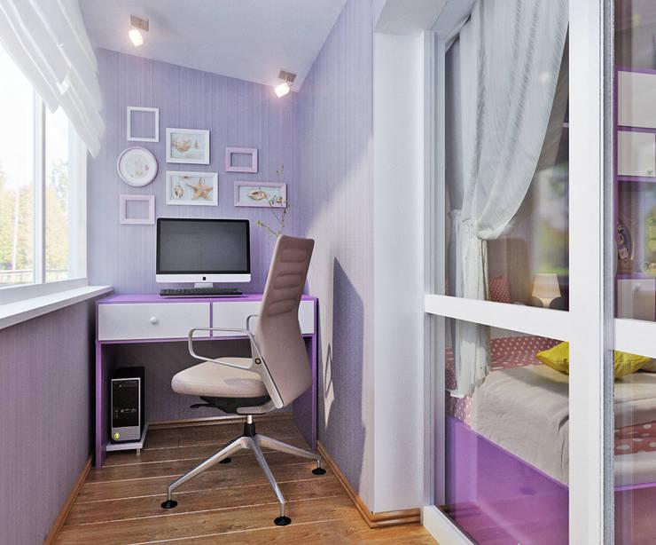 Кабинет в маленькой квартире - три интересные идеи: Рабочие кабинеты в . Автор – Студия дизайна Interior Design IDEAS