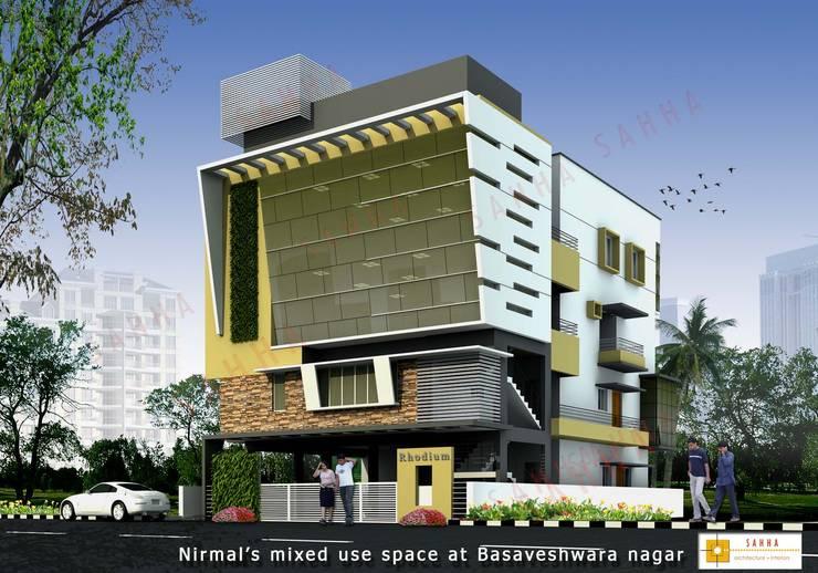 Rodium office at Rajajinagar:  Houses by SAHHA architecture & interiors