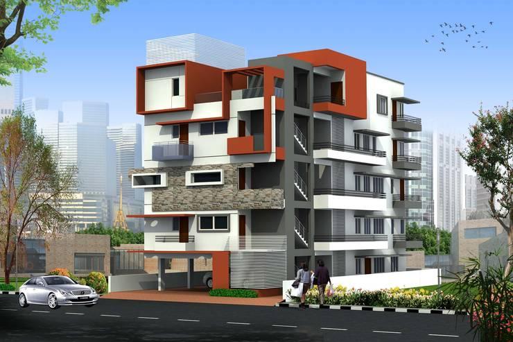Kailka apartment near Karle, Bengaluru:  Houses by SAHHA architecture & interiors