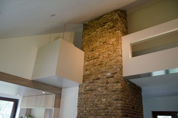 Salas / recibidores de estilo  por Ontwerpbureau Op den Kamp, Moderno
