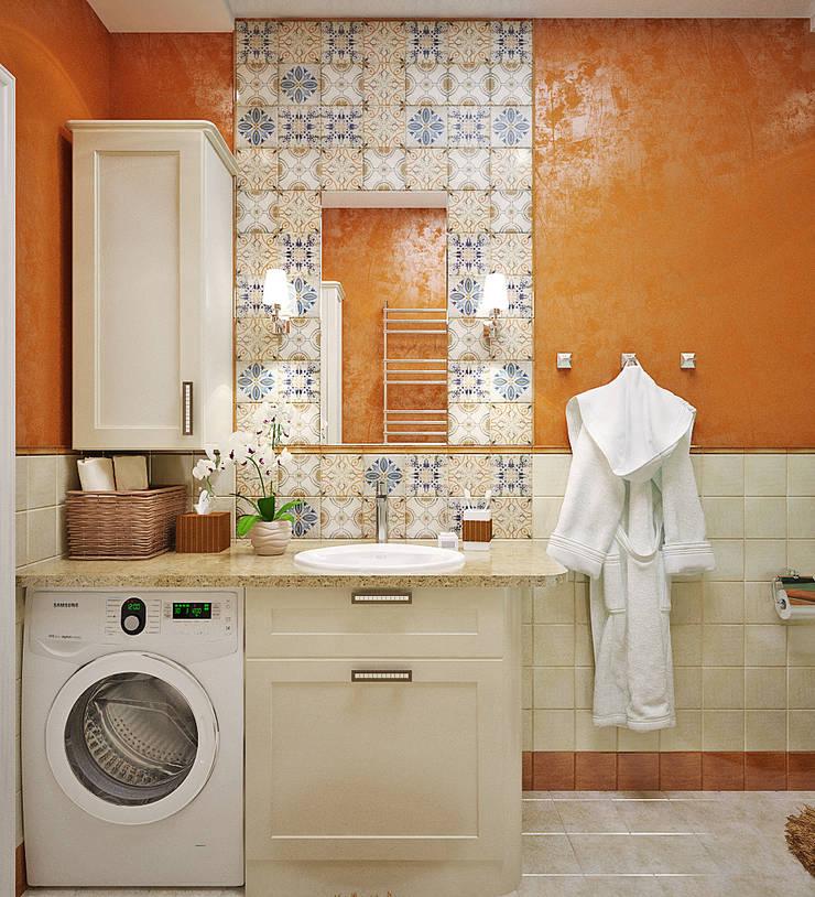 Пэтч ворк плитка для интерьера ванной: Ванные комнаты в . Автор – Студия дизайна Interior Design IDEAS, Модерн