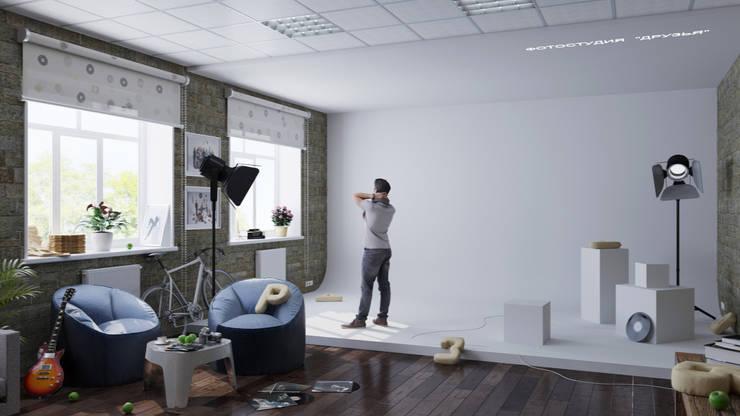 """Фото студия """"Друзья"""" Медиа комната в стиле лофт от Eugene Chekhov Лофт"""