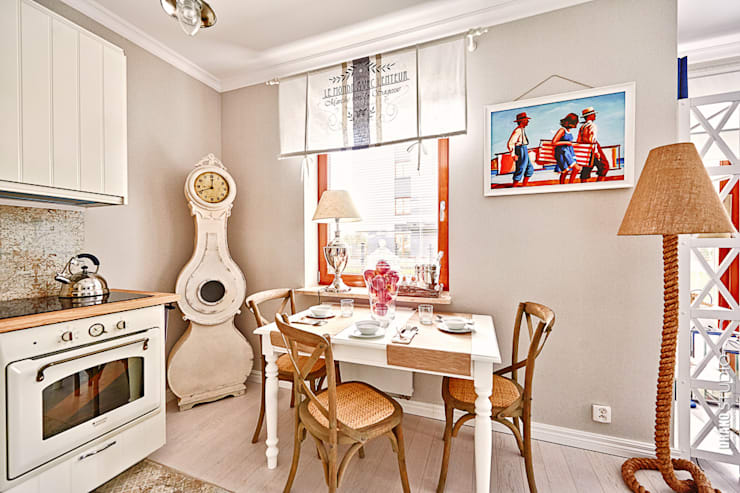 Apartament Błonia Hamptons: styl , w kategorii Kuchnia zaprojektowany przez DreamHouse.info.pl