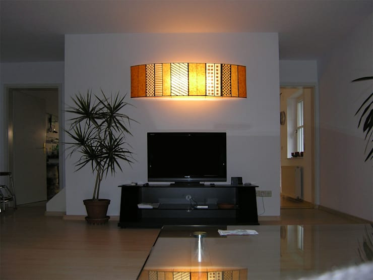 Malak bunt:  Wohnzimmer von espo-leuchten,Modern Papier