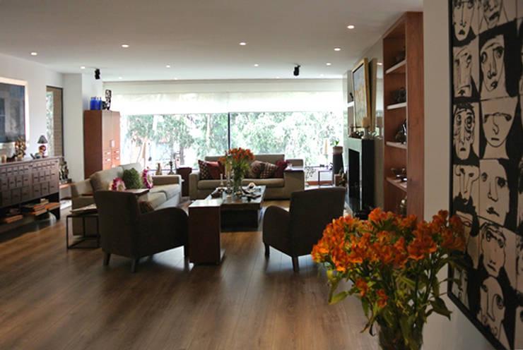 Área Social: Salas de estilo moderno por KDF Arquitectura