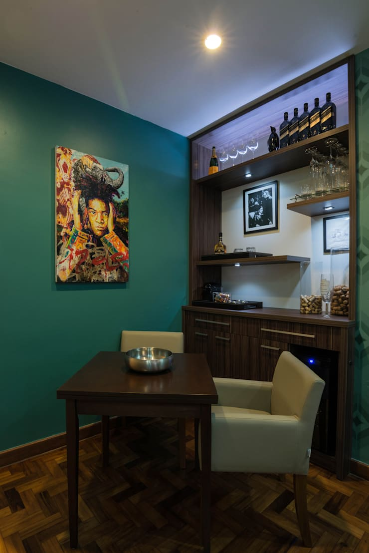 Apartamento Copacabana: Salas de jantar  por Seu Espaço - Arquitetura,