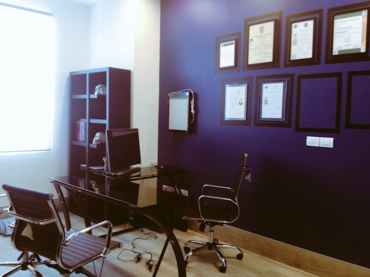Consultorio Dr. Mota: Oficinas y tiendas de estilo  por Constructora e Inmobiliaria Catarsis