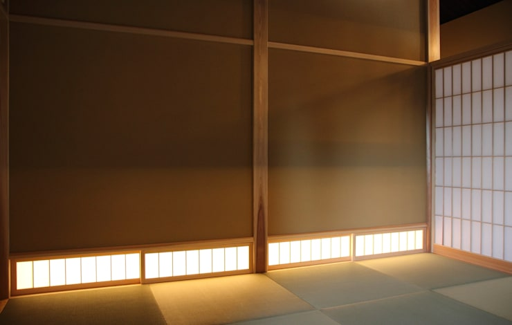 「曲がり土間の家」: 尾脇央道(重川材木店)が手掛けた和室です。,