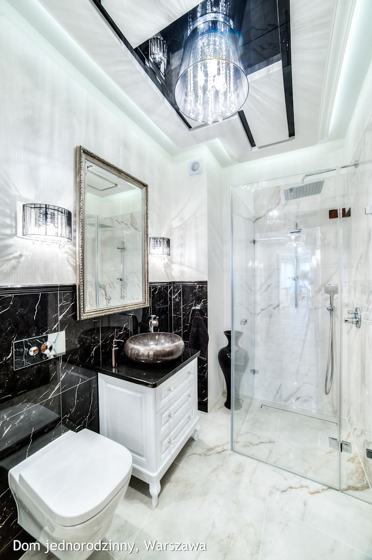łazienka: styl , w kategorii Łazienka zaprojektowany przez Auraprojekt