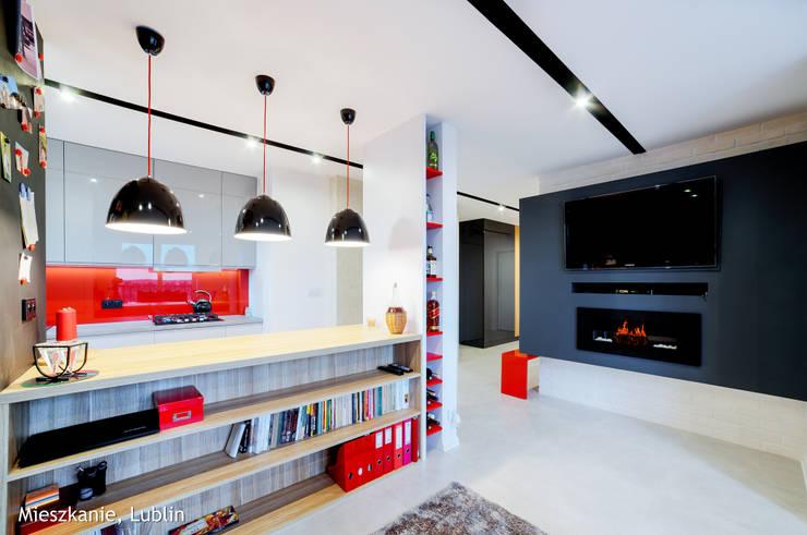 Mieszkanie Lublin: styl , w kategorii Salon zaprojektowany przez Auraprojekt