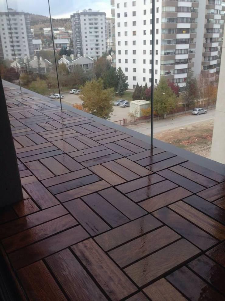 Blue Home  – BALKON DECK KAPLAMA :  tarz Balkon, Veranda & Teras