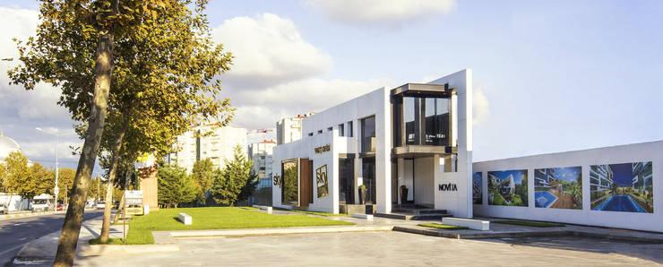 apak mimarlık – Sky Novita Kurtköy Showroom:  tarz Dükkânlar