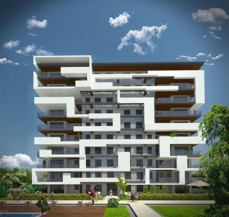 apak mimarlık – Sky Novita Kurtköy:  tarz Evler, Modern