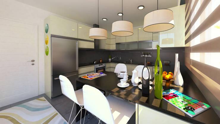 apak mimarlık – Sky Novita Kurtköy:  tarz Mutfak