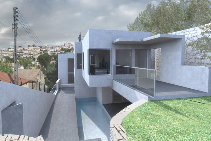 Villa G: Maisons de style de style Moderne par FJA