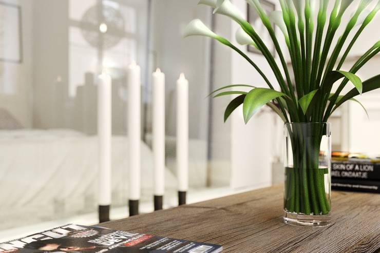 Квартира-студия в скандинавском стиле: Гостиная в . Автор – Eugene Chekhov, Скандинавский
