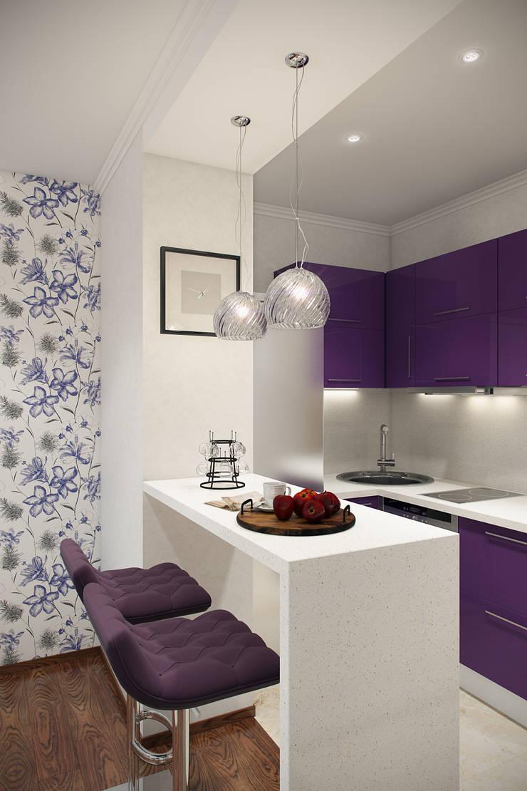 Цветочный сюжет: Кухни в . Автор – Студия интерьера 'SENSE', Эклектичный