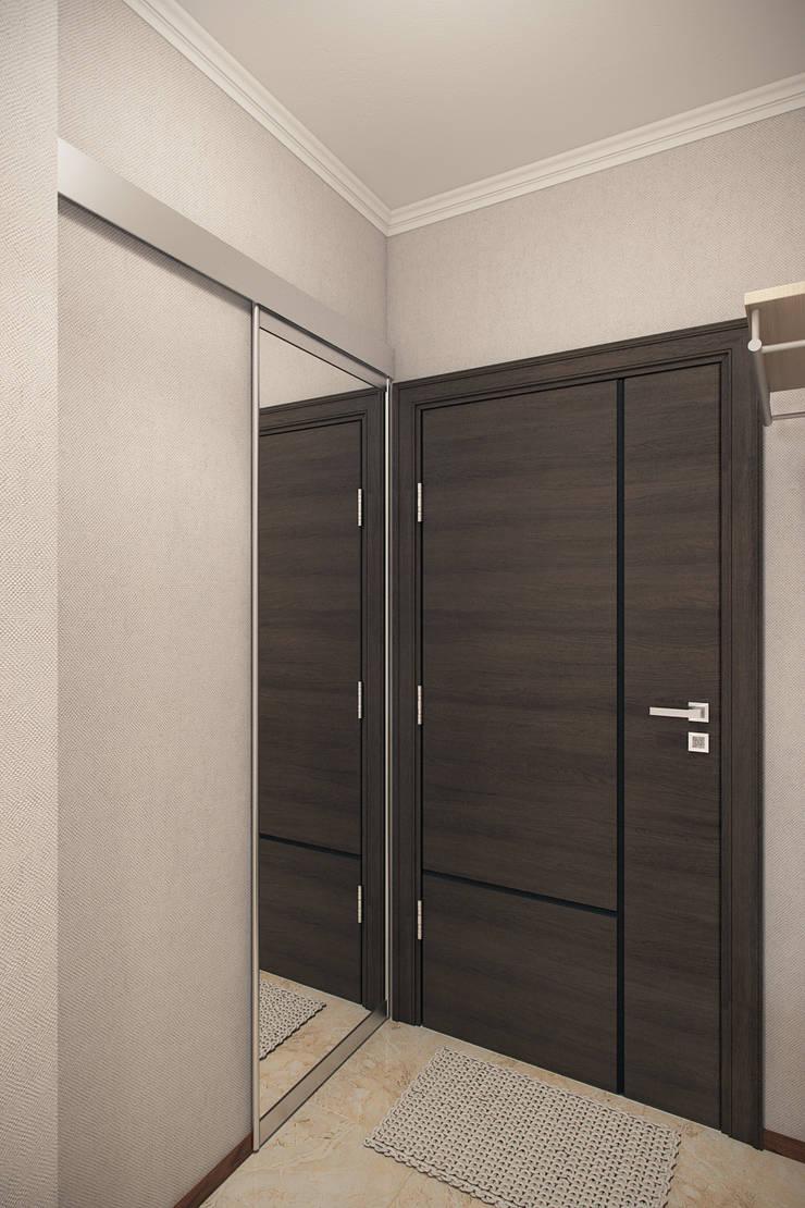 Pasillos, vestíbulos y escaleras de estilo ecléctico de Студия интерьера 'SENSE' Ecléctico