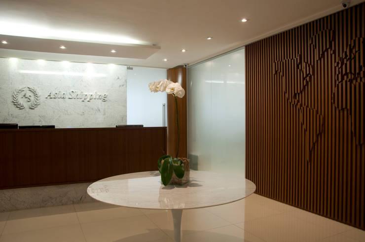 Recepção: Edifícios comerciais  por PL ARQUITETURA,Moderno