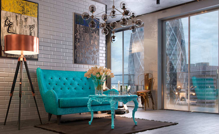 Отзыв Living room (Fall): Гостиная в . Автор – Дмитрий Каючкин, Эклектичный