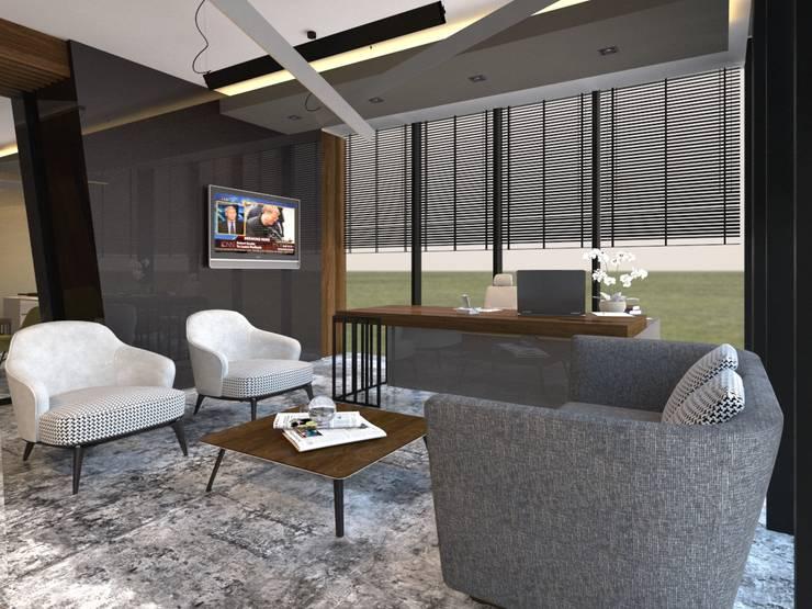 ARGE Dekor & İç Mimari – ÖZYAPIT MÜHENDİSLİK İDARİ BİNA:  tarz Çalışma Odası, Modern