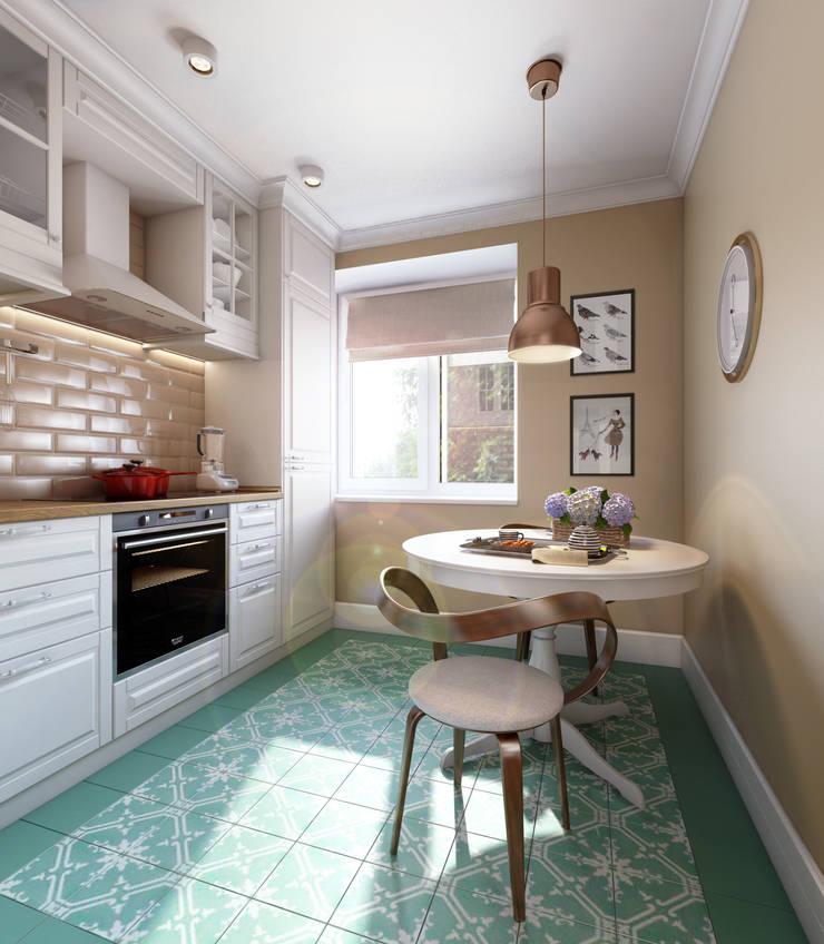 Медовая геометрия_кухня в современном стиле: Кухни в . Автор – CO:interior, Скандинавский