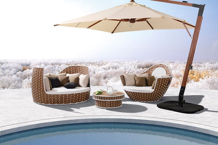 Jardin de style  par Rattania GmbH,