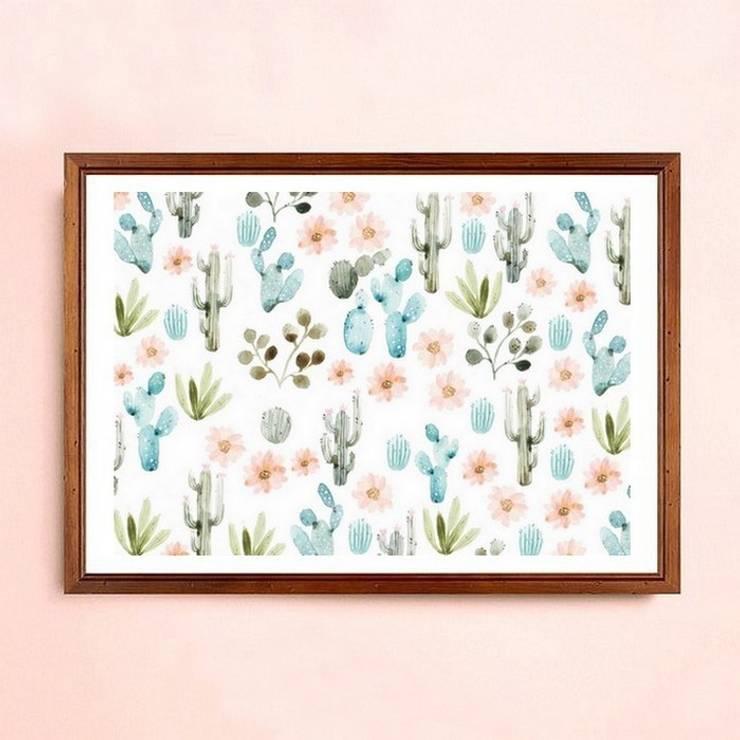 Impression cactus: Art de style  par sonia cavallini