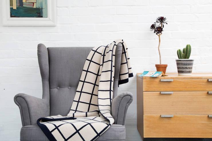 Grid Blanket: modern Living room by Seven Gauge Studios