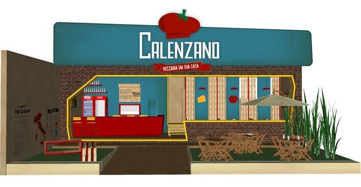 Pizzaria Calenzano: Espaços gastronômicos  por iS arquitetura