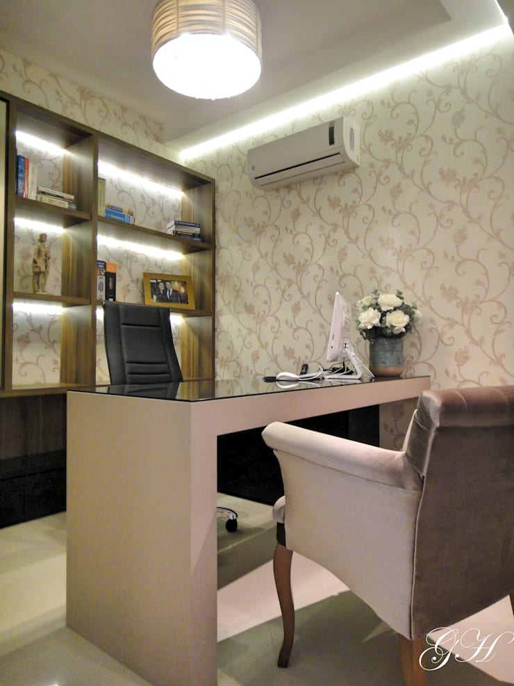 Sala da advogada: Espaços comerciais  por Gabriela Herde Arquitetura & Design,Moderno