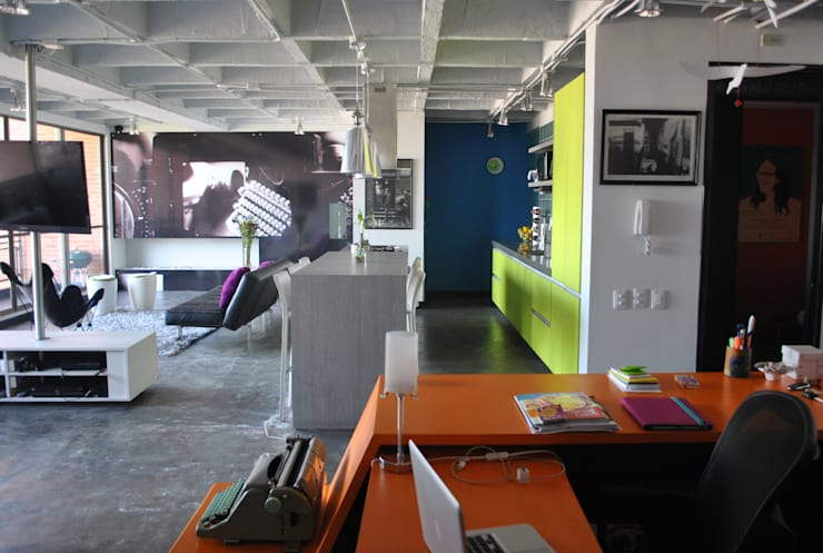 Salones de estilo  de santiago dussan architecture & Interior design