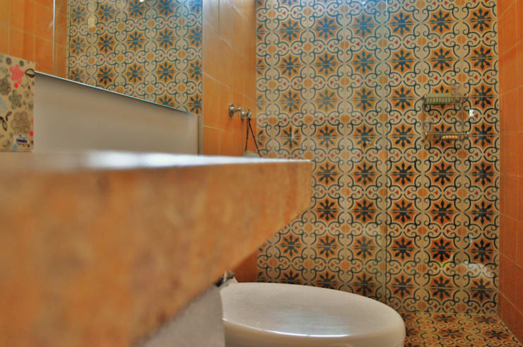 APARTAMENTO SIERRAS: Baños de estilo  por santiago dussan architecture & Interior design, Ecléctico