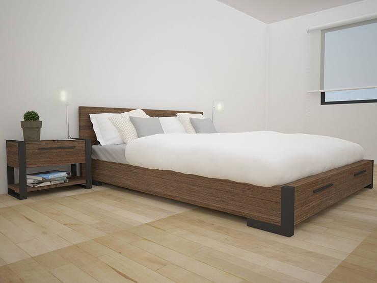 غرفة نوم تنفيذ Teorema Arquitectura